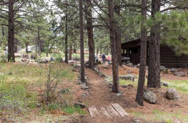 Path to CC lodge Greg Brown 2015